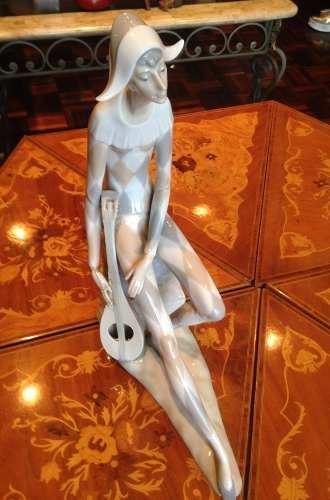 Figura De Porcelana Nao De Lladró Triste Arlequín
