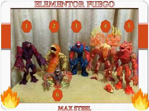 Figuras De Coleccion Max Steel - Elementor Fuego