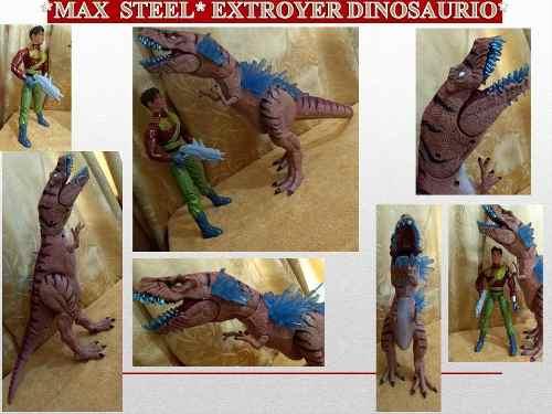 Figuras De Coleccion Max Steel Extroyer Rex Dinosaurio