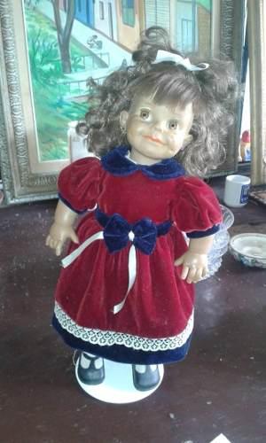Muñeca Antigua De Coleccion En Perfecto Estado