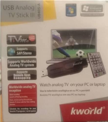 Pendrive Captura Tv Y Radio Fm En Laptop O Pc Marca Kworld