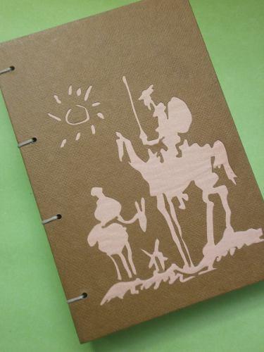 Sketchbook Para Bocetos Artesanal Copto_ Quijote/picasso