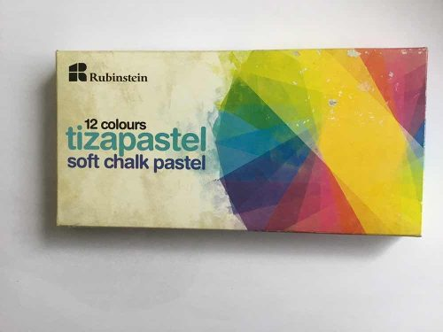 Tiza Pastel 12 Colores Rubinstein.