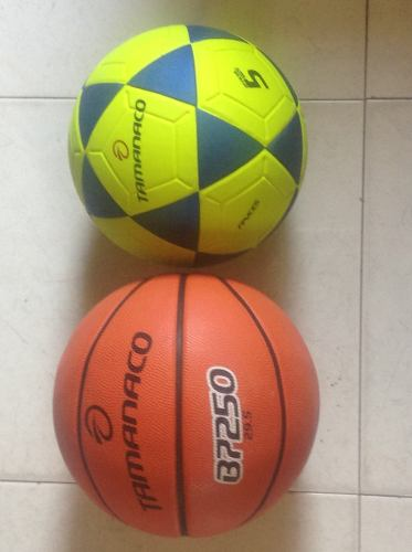 Balón De Basquet Tamanaco B Y Balón De Fútbol