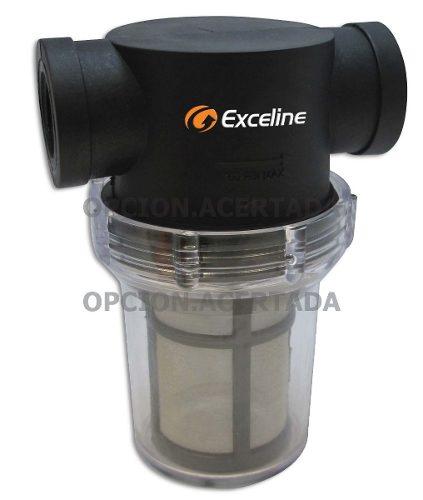 Filtro Agua Para Particulas 1/2 Tanque Exceline Paso Rapido