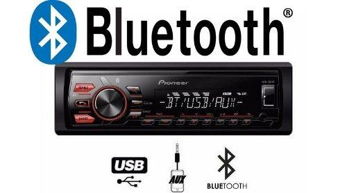 Reproductor Pioneer Mvh-295bt Con Bluetooth Usb Aux Sin Cd