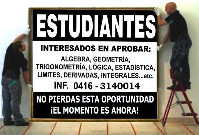CLASES DE MATEMATICAS EN MARACAY ARAGUA