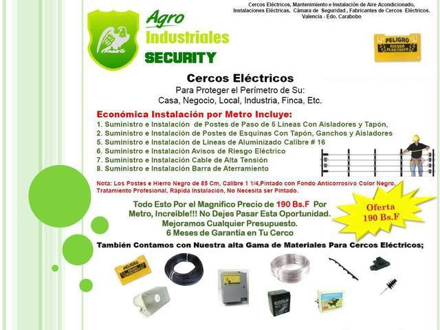 Cercos Electricos Instalacion Venta, Fabricacion