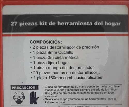 Kit O Juego De Herramientas Para El Hogar