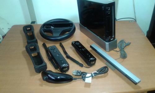 Nintendo Wii Negro Con Accesorios