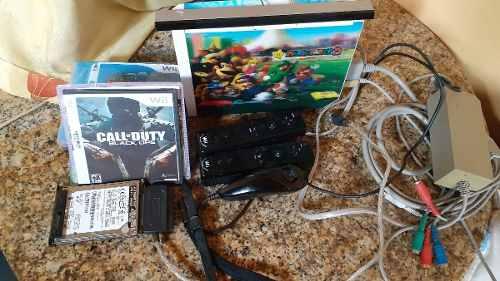 Nintendo Wii Sd De 4g Disco Duro De 40g Y 21 Juegos 75vrdes