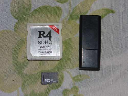 R4 Dual-core 3ds Y Dsi Con Memoria 8 Gb Y Adaptador