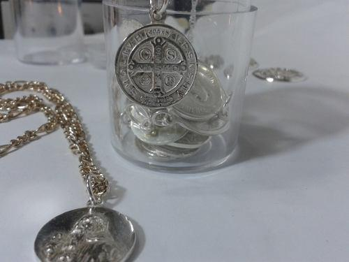 75 Se Vende Excluciva Medalla De San Benito En Plata Ley 950