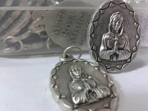 93 Se Vende Exclusiva Medalla De La Rosa Mistica De Alpaca