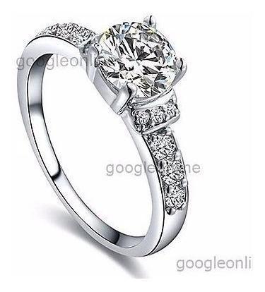 Anillo De Plata Ley 925 Compromiso Matrimonio Boda