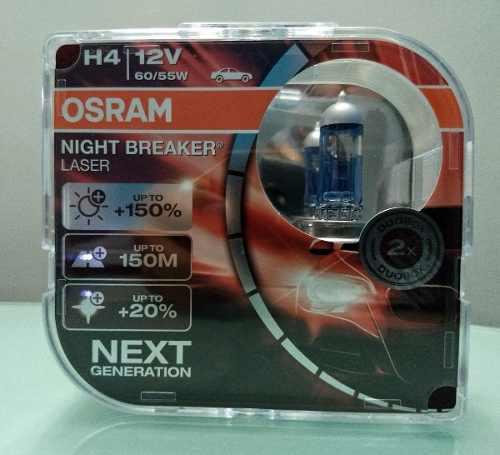 Bombillos Osram Night Breaker Laser H4 +150% Par No Led Hid