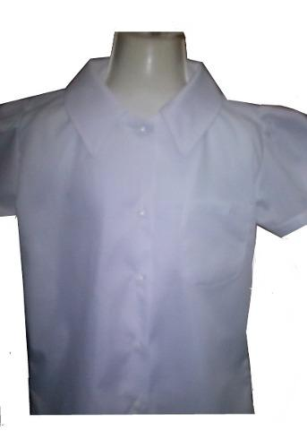 Camisas Escolares Blanca De Ninas En Corte Princesa T,4.6.8