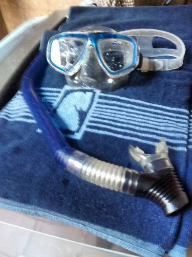 Mascara De Buceo Con Snorkel Marca Aquatek