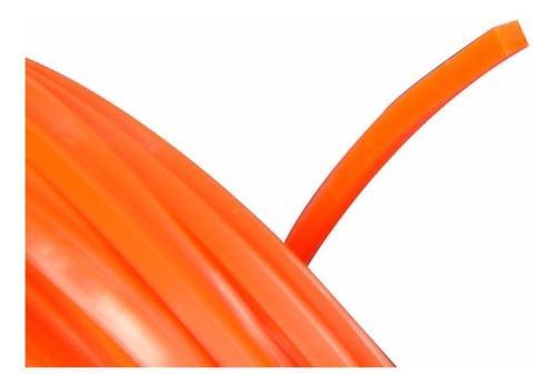 Nylon Desmalezadoras 3.3 Mm X Mts Color Naranja 190 Mts