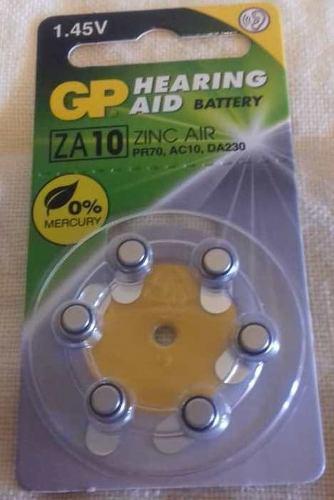 Pila Batería De Aparato Auditivo Gp Hearing Aid Za10 1.45v