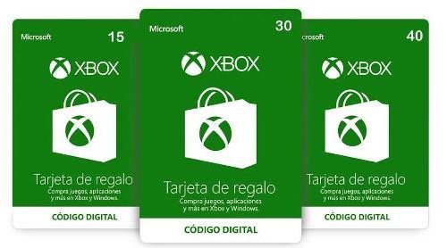 Tarjeta De Recarga Saldo Card Xbox / Microsoft Store
