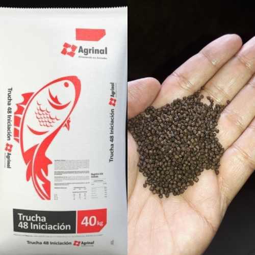 Alimento Para Peces Agrinal Trucha 48% Proteinas