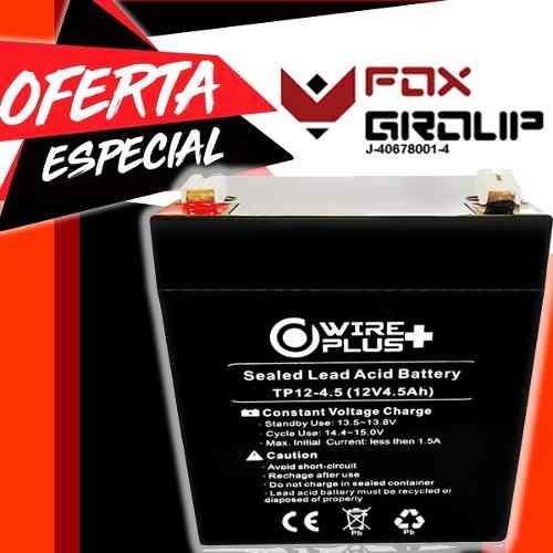 Bateria Pila 12v 4,5ah Ups Lampara Alarma Cercos Electricos