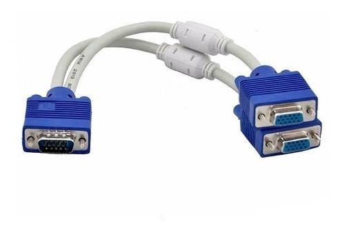 Cable Splitter Vga Svga Macho A 2 Hembras Pc Laptos Video Dv