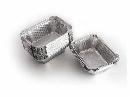 Caja De Envases De Aluminio Con Tapa Para Comidas #420/45