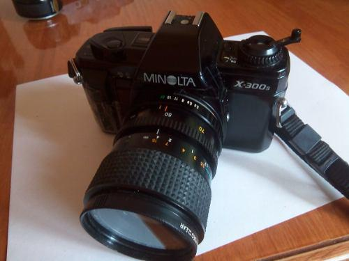 Camara Minolta X-300 De 35mm Y Lente Minolta 1:3.5