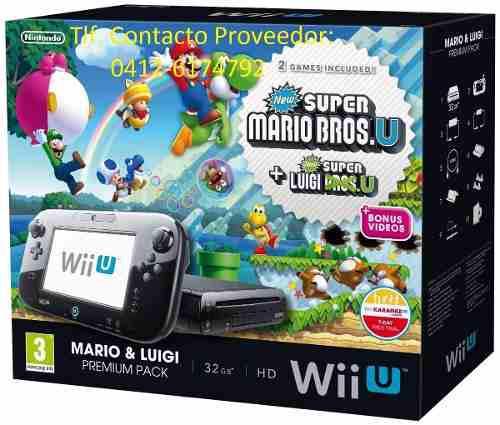 Consola Nintendo Wii U Mario Y Luigi Deluxe Set 32gb