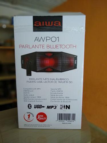 Corneta Parlente Aiwa Nueva Bluetooth Usb..