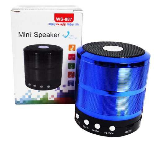 Corneta Portatil Cilindro Mini Music Usb Bluetooth Mp3 iPod