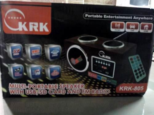 Corneta Portatil Krk Recargable Usb Sd Pulg 3.5mm Auxiliar