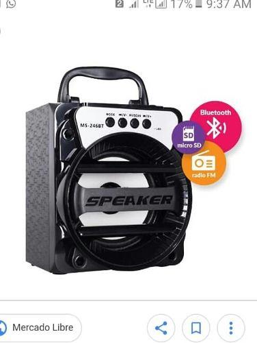 Corneta Portatil Usb Micro Sd Aux, Bluetooth, Radio Recargab