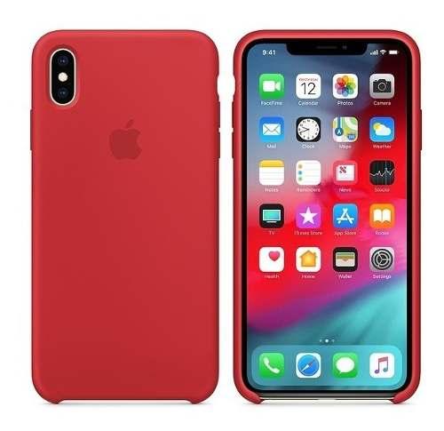 Forro Case Estuche Celular iPhone Xs Max Rojo Original Tiend