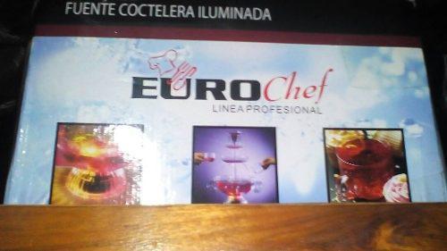 Fuente Cóctelera Iluminada Eurochef Linea Profesional