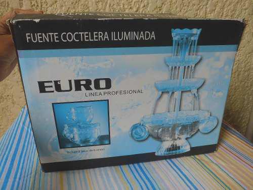 Fuente Coctelera Iluminada Eurochef Linea Profesional