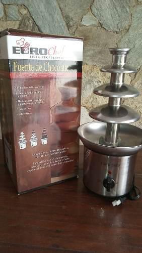 Fuente De Chocolate Eurochef 4 Niveles De Acero Inox