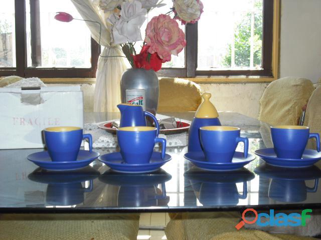 Juego de Tazas de Cafe Grandes Nuevo con accesorios
