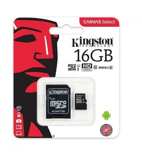 Memoria Micro Sd 16 Gb Kingston Clase 10 Sdcs/16gb-tw