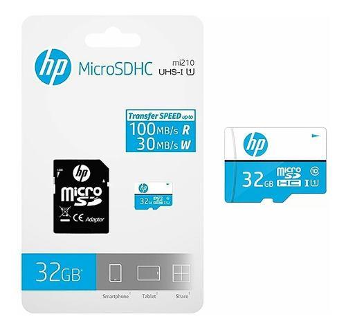 Memoria Micro Sd Hp 32 Gb Clase 10 Con Adaptador 10trones