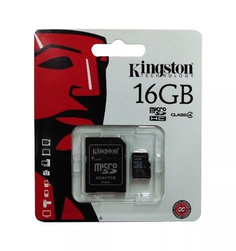 Memoria Micro Sd Kingston (16gb) Clase 4 / Adaptador A