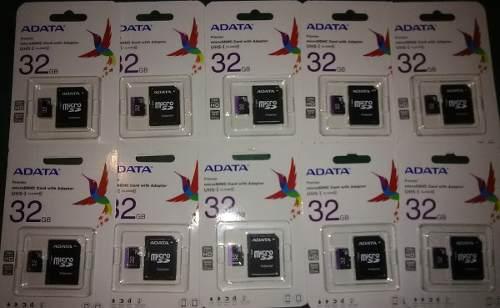 Memoria Micro Sd Marca Adata 32 Gb Clase 10 En Blister