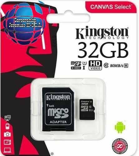 Memoria Micro Sd Marca Kingston 32gb/clase 10/canvis Select