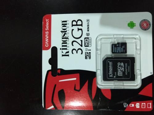 Memoria Micros Sd Kingston 32 Gb Clase 10