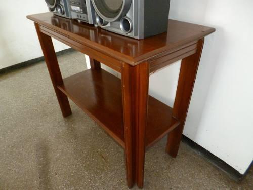 Mesa De Caoba Para Tv O Equipo De Sonido