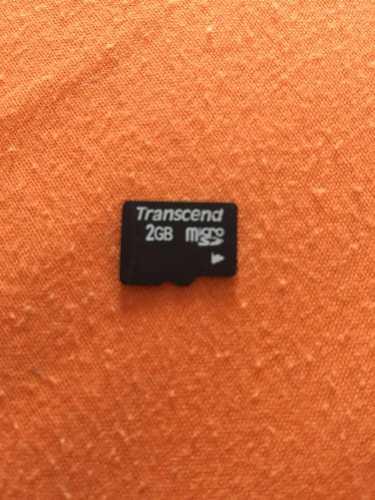Micro Sd 2gb En Perfecto Estado Marca Transcend