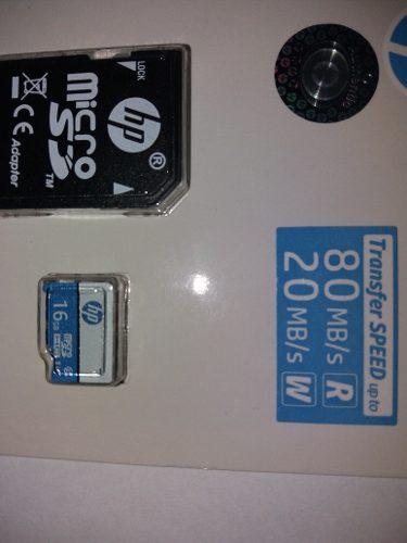 Micro Sd Hp 16 Gb Clase 10 Con Adaptador