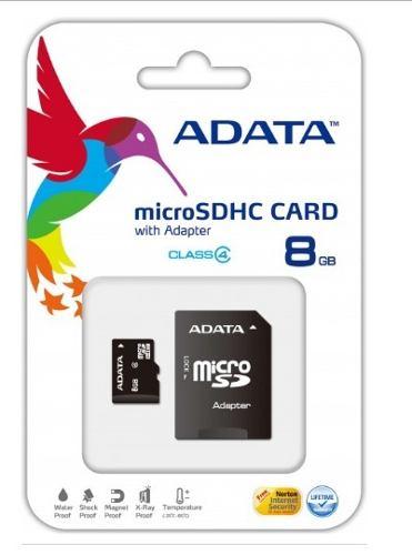 Micro Sd Memoria 8 Gb Clase 4 Adata